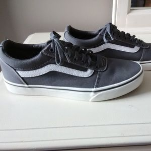 Men's Vans Old Skool Pewter Canvas Skate Shoe